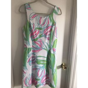 EUC Lilly Pulitzer Bella Dress in Ring the Bellboy
